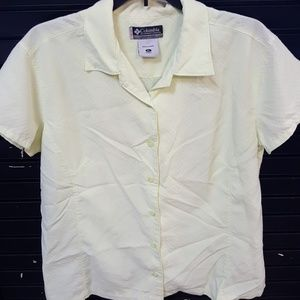 Columbia bright yellow blouse